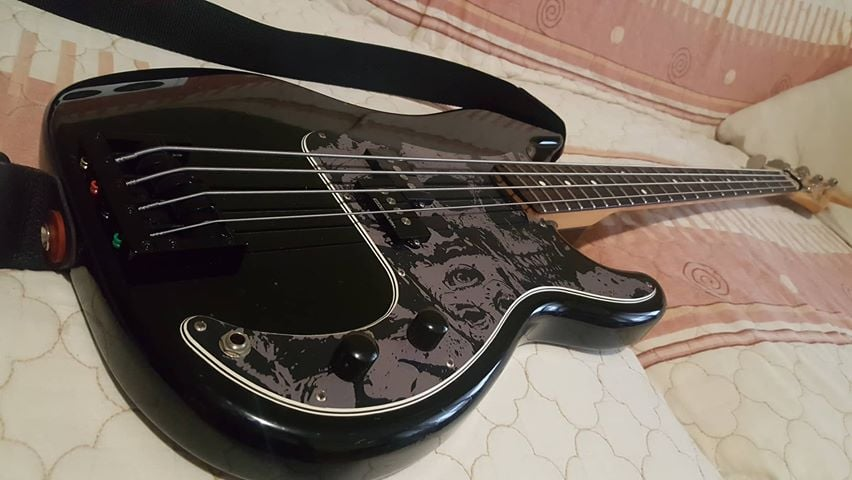 Rocking the Nickel with Nickel bolts Foundation Bass Bridge!  This is a beauty